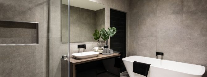 Large Modern Bathroom Design | JDS Floor Concepts - Craftsmen of Visionary Tile & Flooring Possibilities in Southwest Florida
